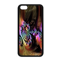 Fractal Colorful Background Apple Iphone 5c Seamless Case (black)