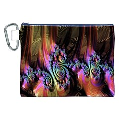 Fractal Colorful Background Canvas Cosmetic Bag (xxl) by Nexatart