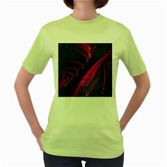 Fractal Art Digital Art Women s Green T Shirt