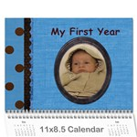 My First Year - Wall Calendar 11  x 8.5  (12-Months)