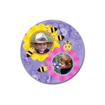 Flowers and Bees Round 3 inch Magnet - Magnet 3  (Round)