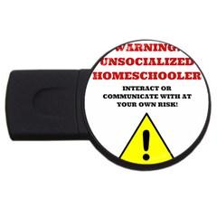 Warning Usb Flash Drive Round (2 Gb) by athenastemple