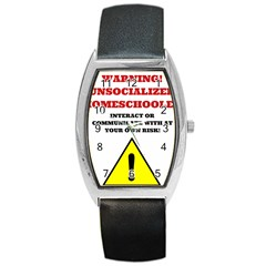 Warning Barrel Style Metal Watch by athenastemple