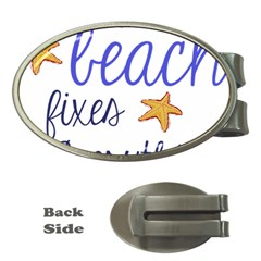 The Beach Fixes Everything Money Clips (oval)  by OneStopGiftShop