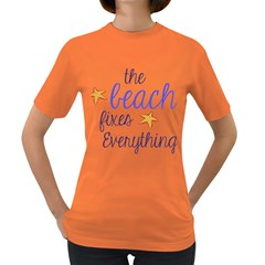 The Beach Fixes Everything Women s Dark T Shirt by OneStopGiftShop
