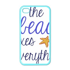 The Beach Fixes Everything Apple Iphone 4 Case (color) by OneStopGiftShop