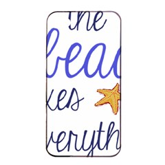 The Beach Fixes Everything Apple Iphone 4/4s Seamless Case (black) by OneStopGiftShop