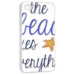 The Beach Fixes Everything Apple Iphone 4/4s Seamless Case (white) by OneStopGiftShop