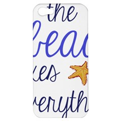 The Beach Fixes Everything Apple Iphone 5 Hardshell Case by OneStopGiftShop