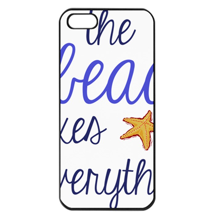 The Beach Fixes Everything Apple iPhone 5 Seamless Case (Black)
