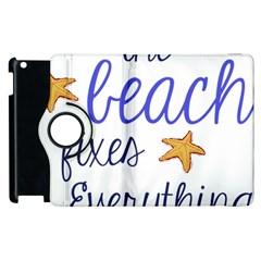 The Beach Fixes Everything Apple Ipad 2 Flip 360 Case by OneStopGiftShop