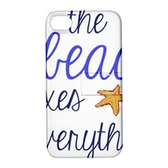 The Beach Fixes Everything Apple Iphone 4/4s Hardshell Case With Stand by OneStopGiftShop