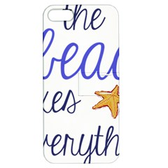 The Beach Fixes Everything Apple Iphone 5 Hardshell Case With Stand by OneStopGiftShop