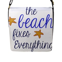 The Beach Fixes Everything Flap Messenger Bag (l)