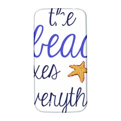 The Beach Fixes Everything Samsung Galaxy S4 I9500/i9505  Hardshell Back Case by OneStopGiftShop