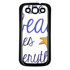 The Beach Fixes Everything Samsung Galaxy S3 Back Case (black)