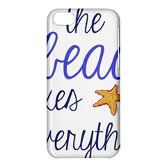 The Beach Fixes Everything Apple Iphone 5c Hardshell Case by OneStopGiftShop