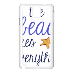 The Beach Fixes Everything Samsung Galaxy Note 3 N9005 Case (white) by OneStopGiftShop