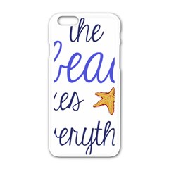 The Beach Fixes Everything Apple Iphone 6/6s White Enamel Case by OneStopGiftShop