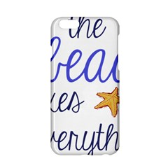 The Beach Fixes Everything Apple Iphone 6/6s Hardshell Case by OneStopGiftShop