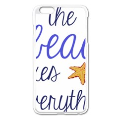 The Beach Fixes Everything Apple Iphone 6 Plus/6s Plus Enamel White Case by OneStopGiftShop