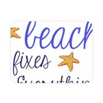 The Beach Fixes Everything Double Sided Flano Blanket (Mini)  35 x27 Blanket Back