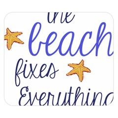 The Beach Fixes Everything Double Sided Flano Blanket (small)