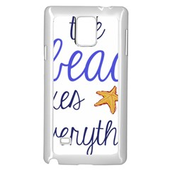 The Beach Fixes Everything Samsung Galaxy Note 4 Case (white) by OneStopGiftShop