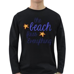 The Beach Fixes Everything Long Sleeve Dark T Shirts by OneStopGiftShop