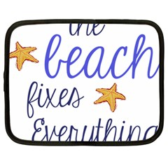 The Beach Fixes Everything Netbook Case (large) by OneStopGiftShop