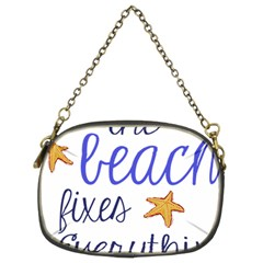 The Beach Fixes Everything Chain Purses (two Sides)  by OneStopGiftShop