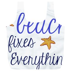 The Beach Fixes Everything Full Print Recycle Bags (l)  by OneStopGiftShop