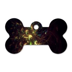 Fractal Flame Light Energy Dog Tag Bone (two Sides) by Nexatart