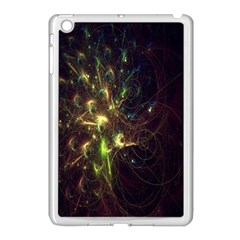 Fractal Flame Light Energy Apple Ipad Mini Case (white) by Nexatart