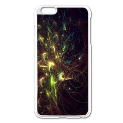 Fractal Flame Light Energy Apple Iphone 6 Plus/6s Plus Enamel White Case