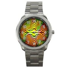 Fractals Ball About Abstract Sport Metal Watch by Nexatart