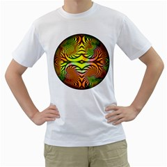 Fractals Ball About Abstract Men s T Shirt (white)