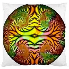 Fractals Ball About Abstract Large Flano Cushion Case (two Sides) by Nexatart