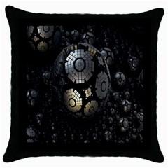Fractal Sphere Steel 3d Structures Throw Pillow Case (black) by Nexatart