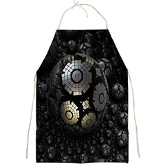Fractal Sphere Steel 3d Structures Full Print Aprons by Nexatart