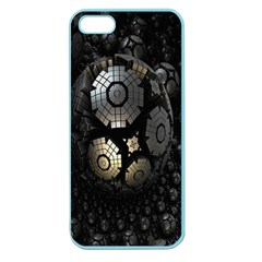 Fractal Sphere Steel 3d Structures Apple Seamless Iphone 5 Case (color)