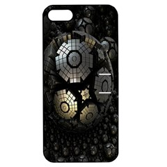 Fractal Sphere Steel 3d Structures Apple Iphone 5 Hardshell Case With Stand by Nexatart