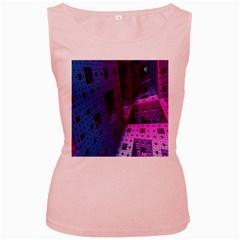 Fractals Geometry Graphic Women s Pink Tank Top