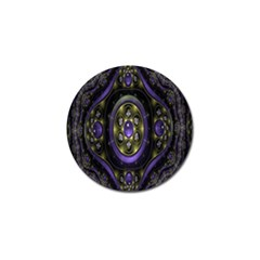 Fractal Sparkling Purple Abstract Golf Ball Marker (4 Pack) by Nexatart