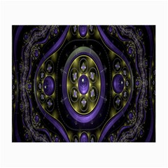 Fractal Sparkling Purple Abstract Small Glasses Cloth (2 Side)
