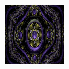 Fractal Sparkling Purple Abstract Medium Glasses Cloth (2 Side)