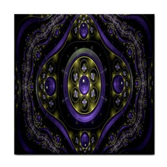 Fractal Sparkling Purple Abstract Face Towel by Nexatart