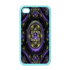 Fractal Sparkling Purple Abstract Apple Iphone 4 Case (color)