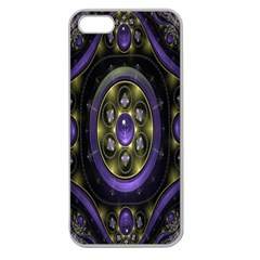Fractal Sparkling Purple Abstract Apple Seamless Iphone 5 Case (clear)