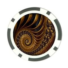 Fractal Spiral Endless Mathematics Poker Chip Card Guard